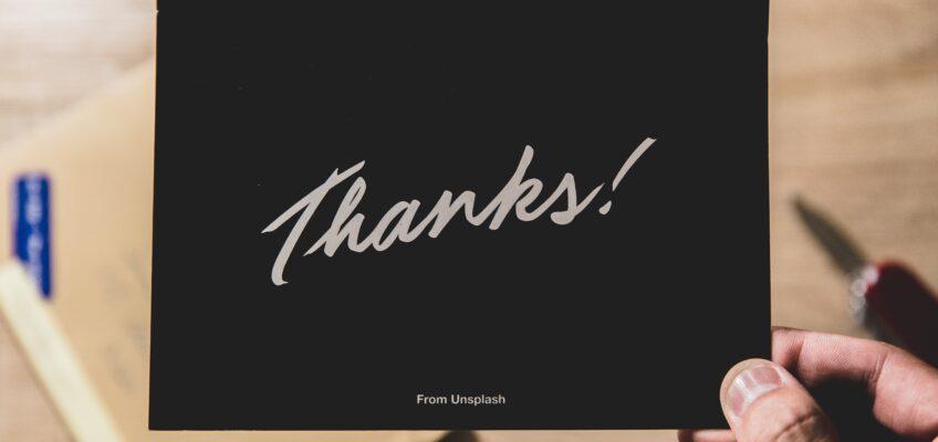 Tip 87. Send a written Thank You note.