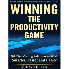 Greg Vetter   Winning The Productivity Game